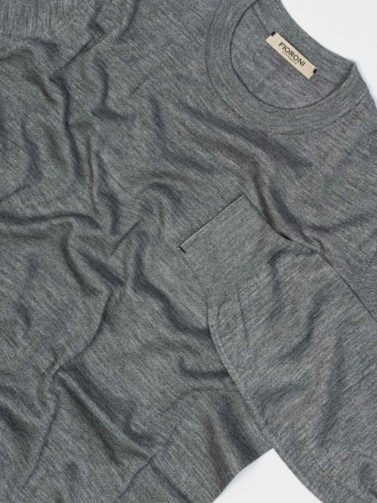 FIORONI FLORENCE PEARL GREY PULLOVER